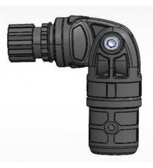 Articulatie universala din plastic pentru tevi cu Ø exterior 22 mm sau Ø interior 29 mm