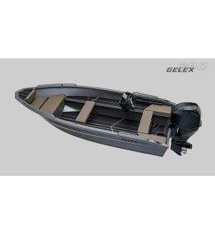 Barca aluminiu complet sudata G390 consola comanda la distanta + motor Honda 20LRTU ( 20CP)