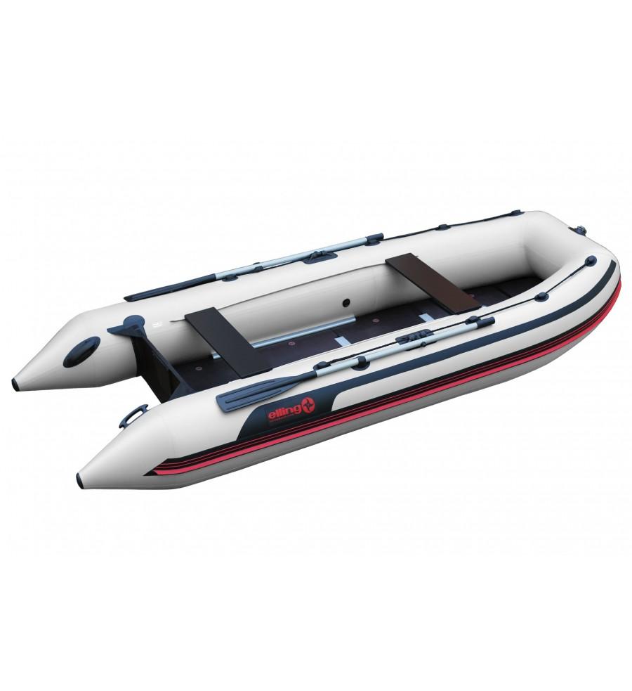 ELLING Pilot 370K - Barca pneumatica cu chila in ,,V,, termosudata, cu bordura antival si banda cauciuc 4mm, montata sub baloane pentru protectie la intepaturi in zona de contact cu solul
