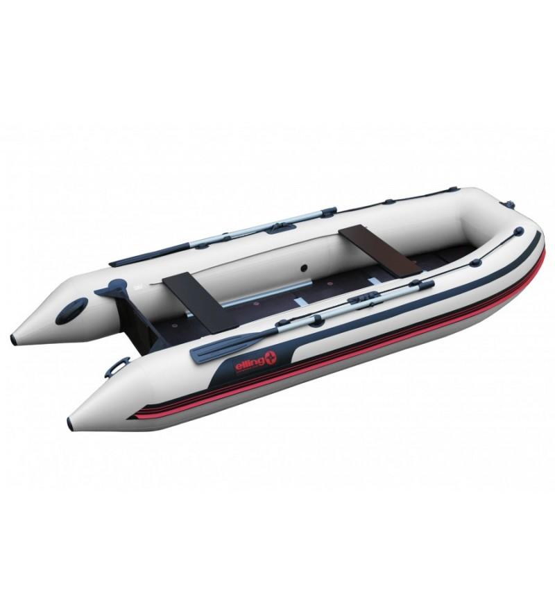 ELLING Pilot 430K - Barca pneumatica cu chila in ,,V,, termosudata, cu bordura antival si banda cauciuc 4mm, montata sub baloane pentru protectie la intepaturi in zona de contact cu solul