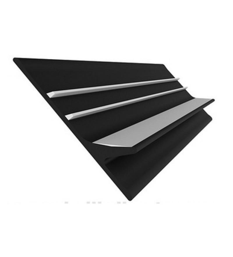 Banda antival 60mm, doua culori negru-gri